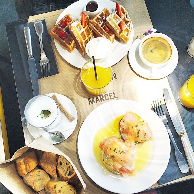 Sunday brunch w/ @amstramglam_ ?? #brunch #sunday #marcel #paris #instafood