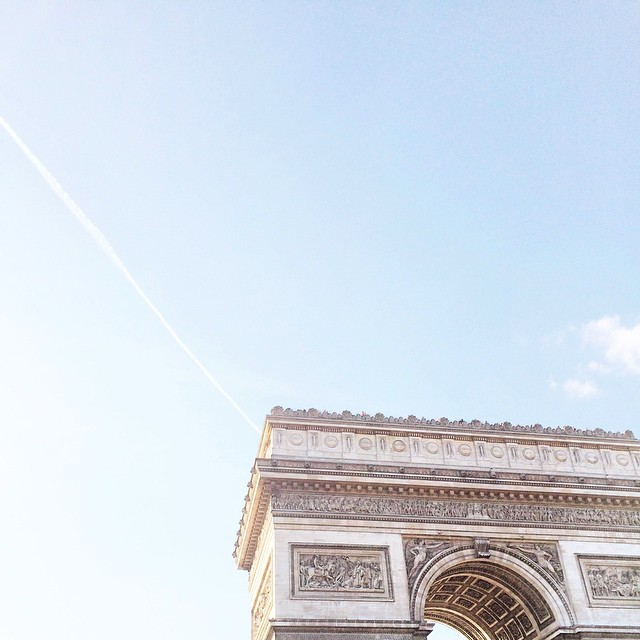 Have a nice sunny week everyone ☀️ #sunny #paris #arcdetriomphe
