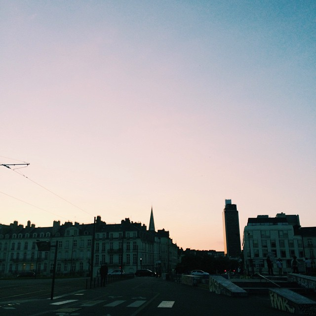 Perfect sunset ??? #sunset #nantes