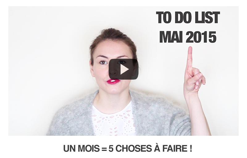 To Do Monthly List #4 (Mai 2015)